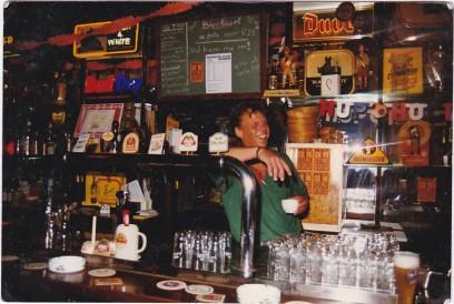 1996. Ook in een bietencafé is er soms tijd voor koffie.